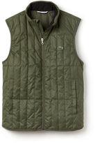 Lacoste Men's Built-in Hood Quilted Vest