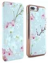 Ted Baker Mirror Iphone 6/7 Plus Folio Case - Pink