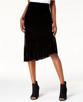 Kensie Velvet Asymmetrical Skirt