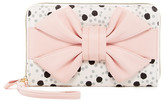 Betsey Johnson Polka Dot & Bow Travel Wristlet
