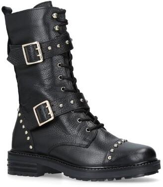 Kurt Geiger Leather Sting Biker Boots