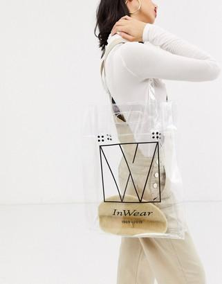 InWear Varina clear shoppers tote bag