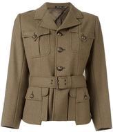 Maison Margiela buttoned short jacket - women - Silk/Cotton/Cupro/Wool - 42