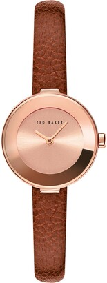Ted Baker Lenara Leather Strap Watch, 28mm