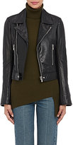 Balenciaga Women's Leather Biker Jacket-BLACK