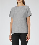 Reiss Sami Metallic V-Neck T-Shirt