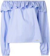 Miu Miu striped off-shoulder top