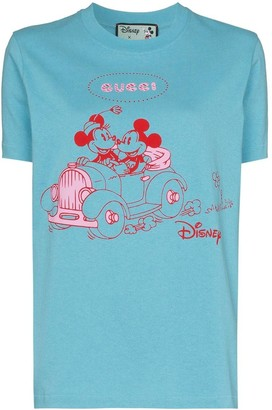 Gucci X Disney Mickey Blue Graphic T-shirt