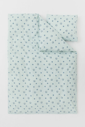 H&M Patterned Duvet Cover Set
