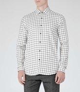 Reiss Lorenzo Houndstooth Check Shirt