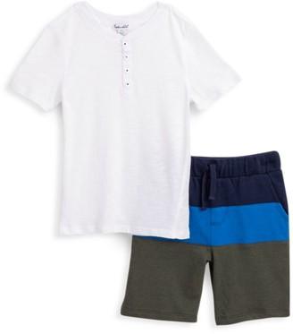 Splendid Little Boy's 2-Piece Colorblock Shorts & T-Shirt Set