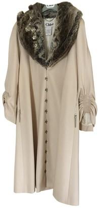 Chloé Ecru Wool Coat for Women Vintage