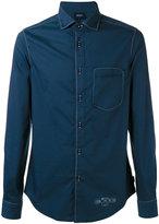 Armani Jeans logo print shirt - men - Cotton/Polyamide/Spandex/Elastane - M