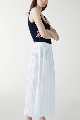 Cos Organic Cotton Long Pleated Skirt