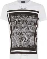 Belstaff Tanner T-Shirt Mens Graphic Print Map White Tee