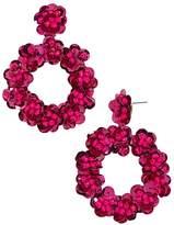 BaubleBar Floretta Hoop Drop Earrings