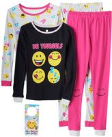 "Girls 4-10 ""Be Yourself"" Smiley 4-pc. Pajama Set"
