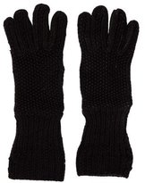 Loro Piana Suede-Trimmed Cashmere Gloves