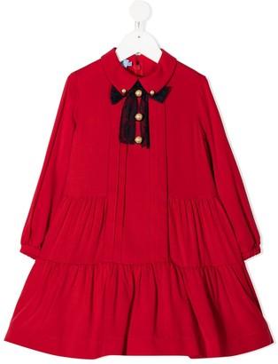 Mi Mi Sol Lace Bow Ruffled Dress