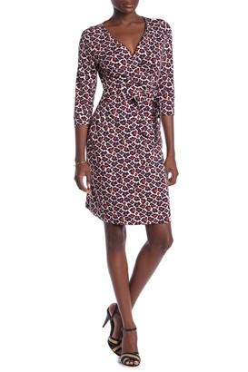 Diane von Furstenberg New Julian Leopard Print Wrap Dress