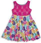 Sweet Heart Rose Sweetheart Rose Girls 2-6x Girls Reversible Printed Dress
