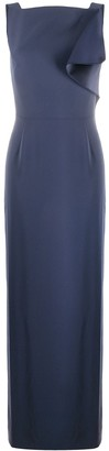 Emporio Armani V-Back Draped-Detail Dress