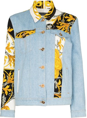 Versace Baroque patchwork denim jacket