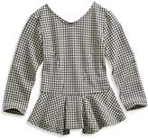 GUESS Long-Sleeve Peplum Top (6-16y)