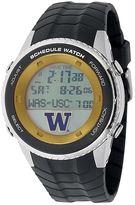 Game Time Men's Washington Huskies Stainless Steel Digital Schedule Watch