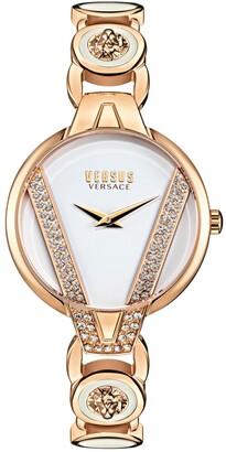 Versus By Versace Versus Women's Saint Germain Petite Gold-Tone Bracelet Watch 32mm