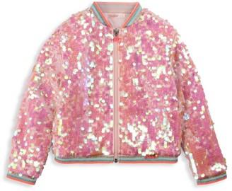 Billieblush Little Girl's & Girl's Sequin Bomber Jacket