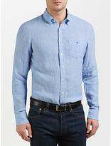 Gant Chelsea Fine Stripe Oxford Shirt, Capri Blue