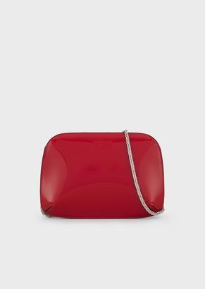 Giorgio Armani La Prima Clutch In Patent Leather