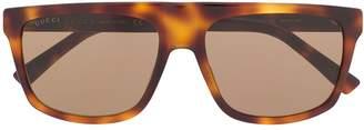 Gucci Tortoiseshell Flat Top Sunglasses