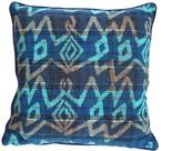 Carousel Jewels Abstract Ikat Luxury Cushion - Design 1