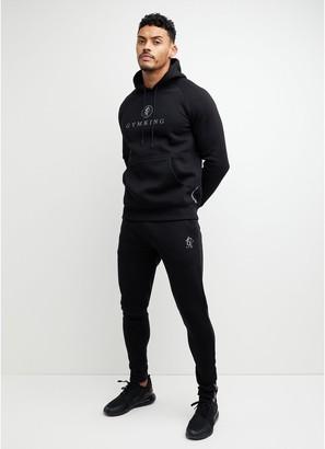 Gym King Pro Logo Tapered Jogger - Black