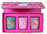 Lilly Pulitzer I'm So Hooked Lilly's Jungle Bamboo Votive Candle Set