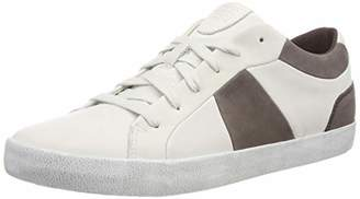 Geox Men's U Smart B Low-Top Sneakers, (White/Coffee C0231)