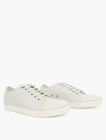 Lanvin White Textured Leather Sneakers