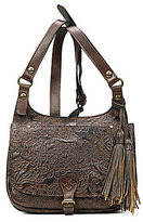 Patricia Nash Burnished Tooled Lace Collection London Saddle Bag