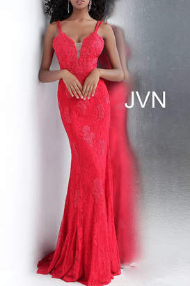 Jovani Lace Embellished Gown