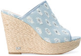 MICHAEL Michael Kors denim mules - women - Cotton/Leather - 7