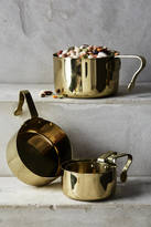 Anthropologie Brass-Finished Measuring Cups