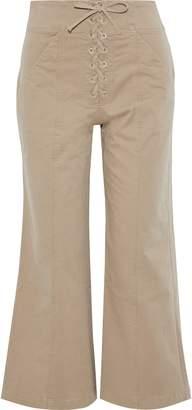 A.L.C. Lace-up Cotton-blend Twill Culottes