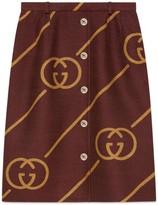 Gucci Wool skirt with Interlocking G