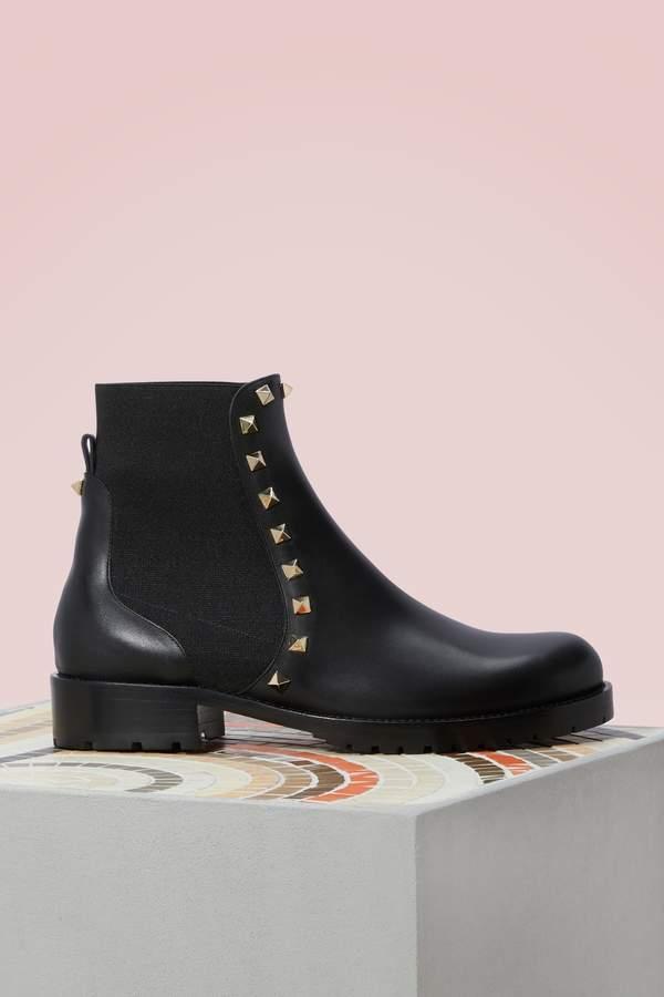 b620569cc90 Gavarani studded Flat Ankle Boots