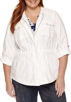Liz Claiborne Shirt Jacket-Plus