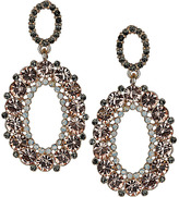 Topshop Premium Oval Drop Earrings