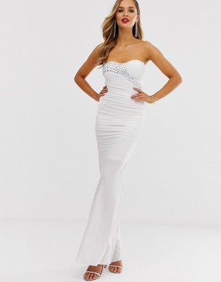 City Goddess strapless bodycon maxi dress