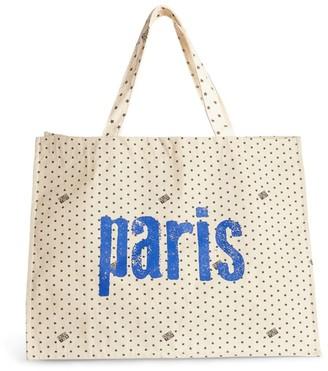 Bonton Star Print Paris Tote Bag